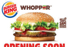 Burger King Buka Gerai di Artos Mall