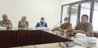 PRESCON. Ketua dan Komisioner KPU Kota Magelang saat menjelaskan penetapan Wlikota dan Wakil Walikota terpilih kepada media,