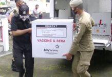VAKSIN. Vaksin Covid-19 diterima Pemerintah Kabupaten Temanggung dari Pemerintah Provinsi Jaetng, Minggu (24/1).