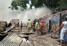 Pabrik kayu terbakar di grabag